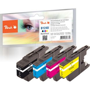Peach Spar Pack Tintenpatronen kompatibel zu Brother LC-1240 (wiederaufbereitet) - Bild 1