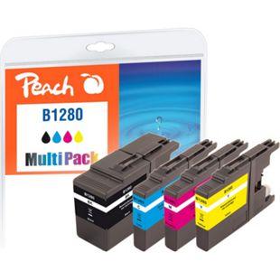Peach Spar Pack Tintenpatronen, XL-Füllung, kompatibel zu Brother LC-1280 (wiederaufbereitet) - Bild 1