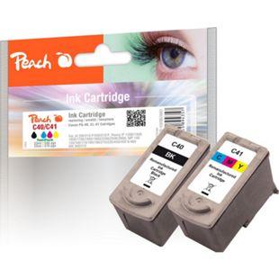 Peach Spar Pack Tintenpatronen kompatibel zu Canon 0615B043 (wiederaufbereitet) - Bild 1