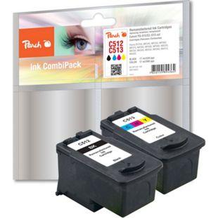 Peach Spar Pack Druckköpfe kompatibel zu Canon PG-512, CL-513 (wiederaufbereitet) - Bild 1