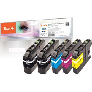 Peach Spar Pack Plus Tintenpatronen, kompatibel zu Brother LC-123 (wiederaufbereitet) - Bild 1