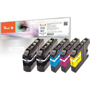 Peach Spar Pack Plus Tintenpatronen, kompatibel zu Brother LC-125XL, LC-127XL (wiederaufbereitet) - Bild 1