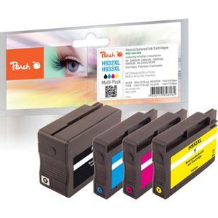 Peach Spar Pack Tintenpatronen kompatibel zu HP No. 932XL, No. 933XL (wiederaufbereitet) - Bild 1