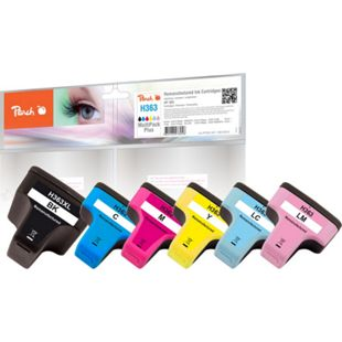 Peach Spar Pack Tintenpatronen kompatibel zu HP No. 363 (wiederaufbereitet) - Bild 1