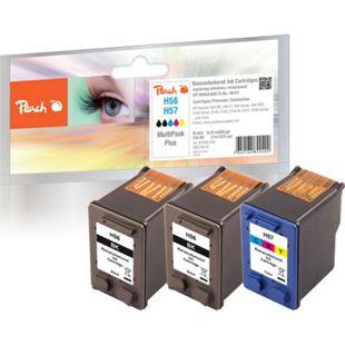 Peach Spar Pack Plus Druckköpfe Tintenpatronen bk/c kompatibel zu HP No. 56, C6656AE, No. 57, C6657AE (wiederaufbereitet) - Bild 1