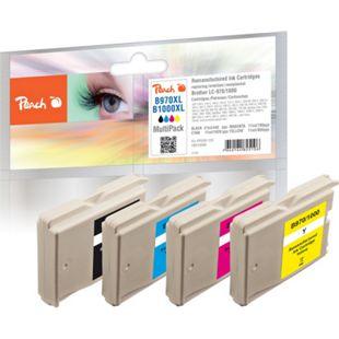 Peach Spar Pack Tintenpatronen, XL-Füllung, kompatibel zu Brother LC-1000, LC-970 (wiederaufbereitet) - Bild 1