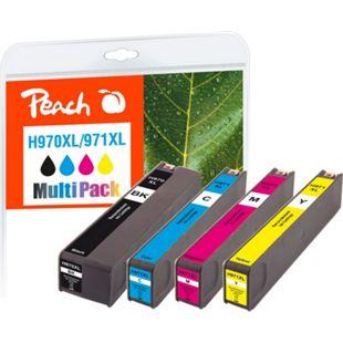 Peach Spar Pack Tintenpatronen kompatibel zu HP No. 970XL, No. 971XL (wiederaufbereitet) - Bild 1