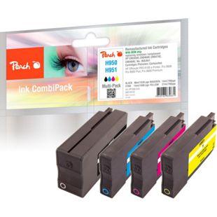Peach Spar Pack Tintenpatronen kompatibel zu HP No. 950, No. 951 (wiederaufbereitet) - Bild 1