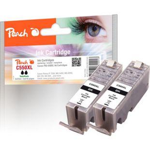Peach Doppelpack Tintenpatronen schwarz kompatibel zu Canon PGI-550, PGI-550PGBK XL - Bild 1