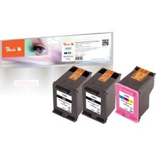 Peach Spar Pack Plus Druckköpfe kompatibel zu HP No. 301 black, CH561EE,  No. 301 color, CH562EE (wiederaufbereitet) - Bild 1