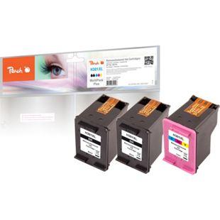 Peach Spar Pack Plus Druckköpfe kompatibel zu HP No. 301XL, CH563EE, CH564EE (wiederaufbereitet) - Bild 1