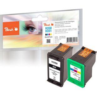 Peach Spar Pack Druckköpfe kompatibel zu HP No. 350, No. 351 (wiederaufbereitet) - Bild 1