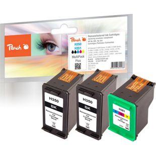 Peach Spar Pack Plus Druckköpfe kompatibel zu HP No. 351, HP No. 350 (wiederaufbereitet) - Bild 1