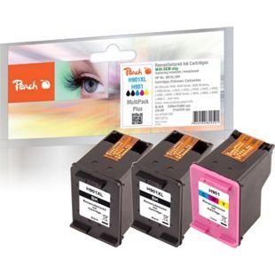 Peach Spar Pack Plus Druckköpfe kompatibel zu HP No. 901XL black, CC654AE,  No. 901 color, CC656AE (wiederaufbereitet) - Bild 1