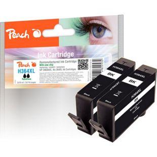 Peach Doppelpack Tintenpatrone schwarz kompatibel zu HP No. 364XL, CN684EE (wiederaufbereitet) - Bild 1