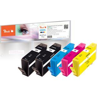 Peach Spar Pack Plus Tintenpatronen kompatibel zu HP No. 364XL (wiederaufbereitet) - Bild 1