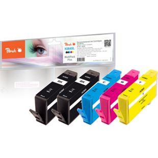 Peach Spar Pack Plus Tintenpatronen kompatibel zu HP No. 364 (wiederaufbereitet) - Bild 1