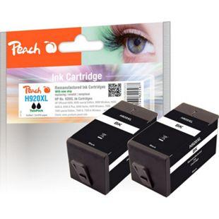 Peach Doppelpack Tintenpatrone schwarz kompatibel zu HP No. 920XL, CD975AE (wiederaufbereitet) - Bild 1
