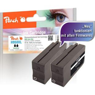 Peach Doppelpack Tintenpatrone schwarz HC kompatibel zu HP No. 950XL, CN045AE (wiederaufbereitet) - Bild 1
