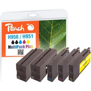 Peach Spar Pack Plus Tintenpatronen kompatibel zu HP No. 950, No. 951 (wiederaufbereitet) - Bild 1