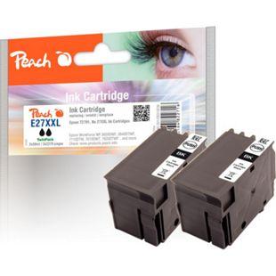 Peach Doppelpack Tintenpatronen schwarz kompatibel zu Epson No. 27XXL, T2791 - Bild 1