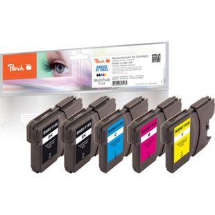 Peach Spar Pack Plus Tintenpatronen, XL-Füllung, kompatibel zu Brother LC-1100, LC-980 (wiederaufbereitet) - Bild 1