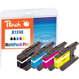 Peach Spar Pack Plus Tintenpatronen kompatibel zu Brother LC-1240 (wiederaufbereitet) - Bild 1