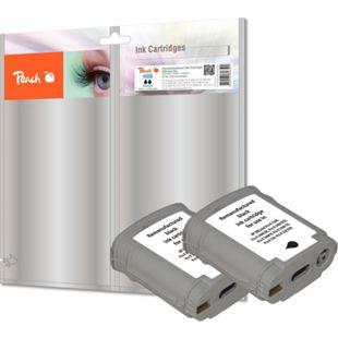 Peach Doppelpack Tintenpatrone schwarz kompatibel zu HP No. 88, C9385AE (wiederaufbereitet) - Bild 1