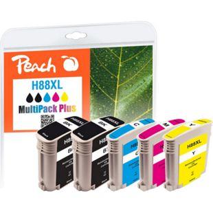 Peach Spar Pack Plus Tintenpatronen kompatibel zu HP No. 88XL (wiederaufbereitet) - Bild 1