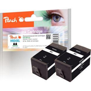 Peach Doppelpack Tintenpatrone schwarz HC kompatibel zu HP No. 934XL, C2P23AE (wiederaufbereitet) - Bild 1