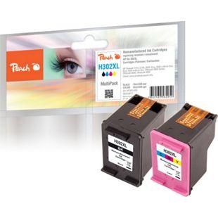 Peach Spar Pack Druckköpfe kompatibel zu HP No. 302XL, F6U68A, F6U67A (wiederaufbereitet) - Bild 1