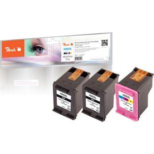 Peach Spar Pack Plus Druckköpfe kompatibel zu HP No. 302XL, F6U68AE, F6U67AE (wiederaufbereitet) - Bild 1