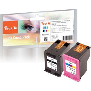 Peach Spar Pack Druckköpfe kompatibel zu HP No. 62, C2P04AE, C2P06AE (wiederaufbereitet) - Bild 1