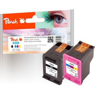 Peach Spar Pack Druckköpfe kompatibel zu HP No. 304, N9K06AE, N9K05AE (wiederaufbereitet) - Bild 1