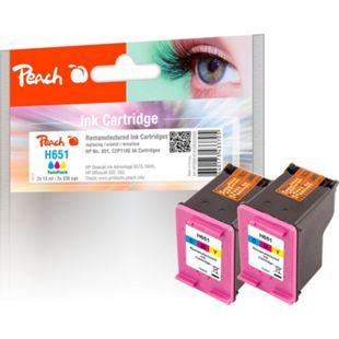 Peach Druckkopf color kompatibel zu HP No. 651 c*2, C2P11AE (wiederaufbereitet) - Bild 1