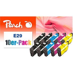 Peach 10er-Pack Tintenpatronen kompatibel zu Epson T2986, No. 29, C13T29864010 (wiederaufbereitet) - Bild 1