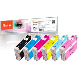 Peach Spar Pack Tintenpatronen kompatibel zu Epson T079 bk, c, m, y (wiederaufbereitet) - Bild 1