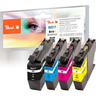 Peach Spar Pack Tintenpatronen kompatibel zu Brother LC-3217VALP (wiederaufbereitet) - Bild 1