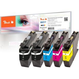 Peach Spar Plus Pack Tintenpatronen kompatibel zu Brother LC-3217 (wiederaufbereitet) - Bild 1