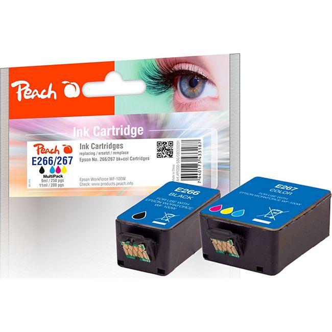 Peach Spar Pack Tintenpatronen kompatibel zu Epson No. 266/267 - Bild 1