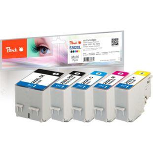 Peach Spar Pack Tintenpatronen XL kompatibel zu Epson No. 202XL, T02G7 - Bild 1