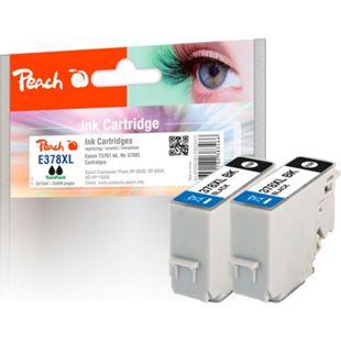 Peach Doppelpack Tintenpatronen schwarz kompatibel zu Epson No. 378XL, T3791*2 - Bild 1