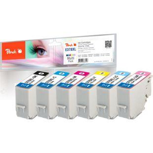 Peach Spar Pack Tintenpatronen HY kompatibel zu Epson No. 378XL, T3798 - Bild 1