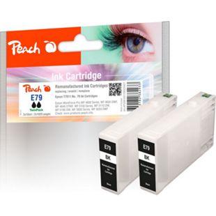 Peach Doppelpack Tintenpatronen schwarz kompatibel zu Epson No. 79, T7911*2 (wiederaufbereitet) - Bild 1