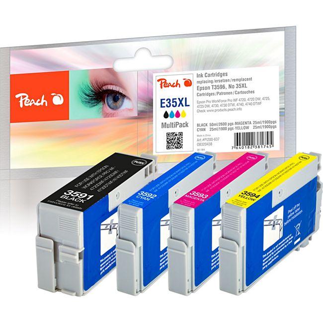 Peach Spar Pack Tintenpatronen XL kompatibel zu Epson No. 35XL, T3596 - Bild 1