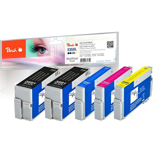 Peach Spar Pack Plus Tintenpatronen XL kompatibel zu Epson No. 35XL - Bild 1