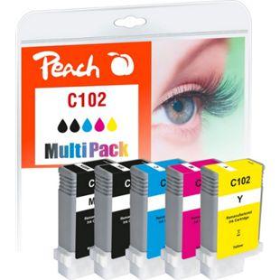 Peach Spar Pack Tintenpatronen kompatibel zu Canon PFI-102 (wiederaufbereitet) - Bild 1