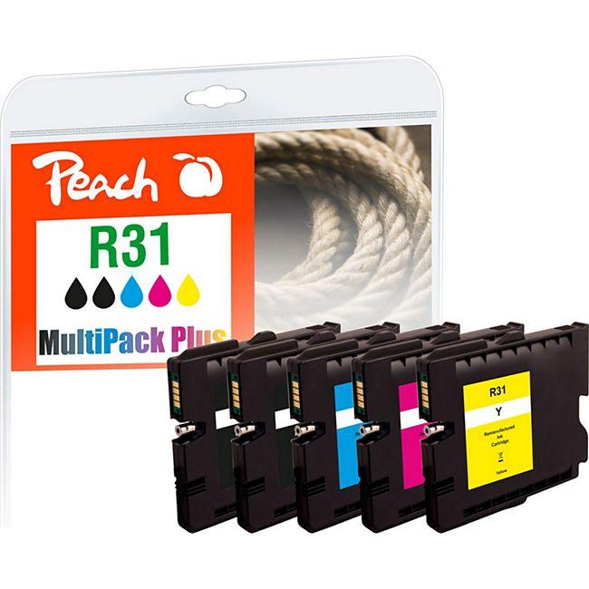 Peach Spar Pack Plus Tintenpatronen kompatibel zu Ricoh GC31, 405688*2, 405689, 405690, 405691 (wiederaufbereitet) - Bild 1
