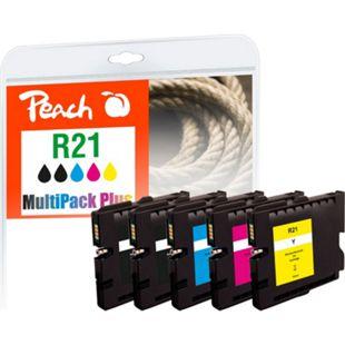 Peach Spar Pack Plus Tintenpatronen kompatibel zu Ricoh GC21 (wiederaufbereitet) - Bild 1