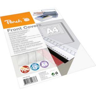 Peach Klarsicht Einbanddeckel, farblos, 0.18mm,  A4, 100 Blatt - Bild 1